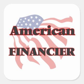 American Financier Square Sticker
