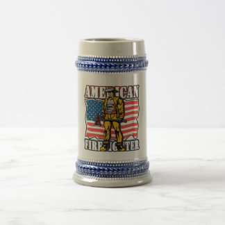 American Firefighter Beer Stein
