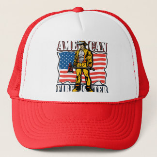 American Firefighter Trucker Hat