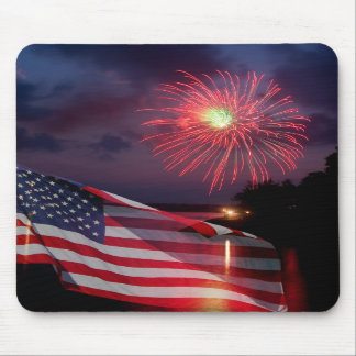 American Fireworks Mouse Pad
