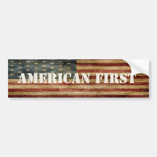 American First Sticker Bumper Sticker