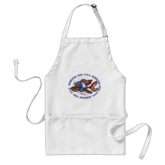 AMERICAN FISH, RED WHITE BLUE FISH ADULT APRON
