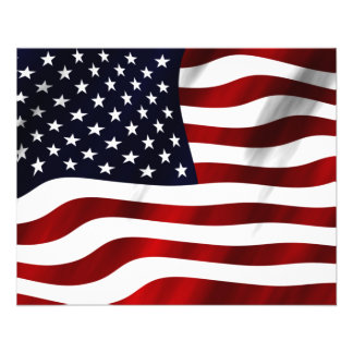 American Flag 11.5 Cm X 14 Cm Flyer
