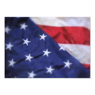 American Flag 13 Cm X 18 Cm Invitation Card