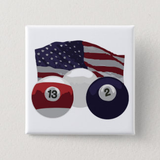 American Flag 15 Cm Square Badge