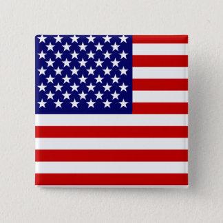 American flag 15 cm square badge
