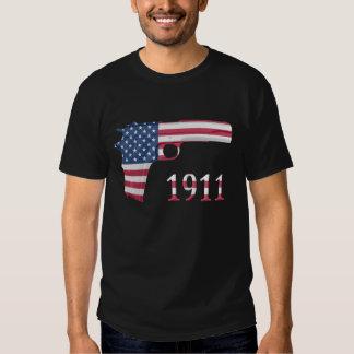 American flag 1911 T-shirt