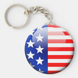 American Flag 2.0 Basic Round Button Key Ring