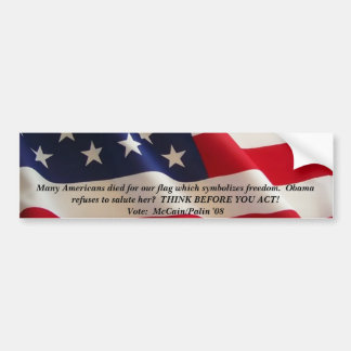 american-flag-2a, Many Americans died for our f... Bumper Sticker
