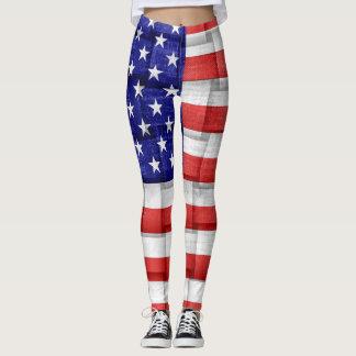 American Flag #3 Leggings