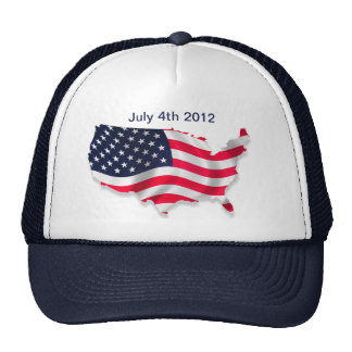 American Flag 4th of July Hat