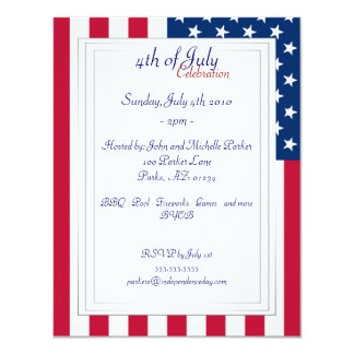 American Flag - 4th of July Party Invitations