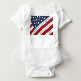 American Flag 4th of July Personalized Baby Girl Baby Bodysuit