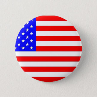 AMERICAN FLAG 6 CM ROUND BADGE