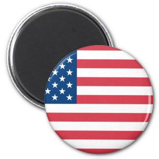 American Flag 6 Cm Round Magnet