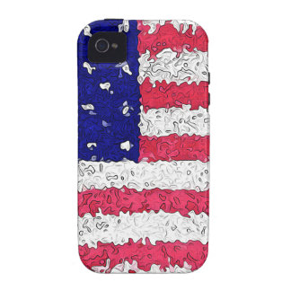American Flag Abstract iPhone 4/4S Covers