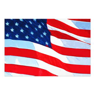 American Flag Abstract Impressionism Photo Print