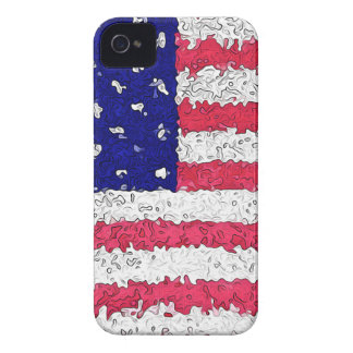 American Flag Abstract iPhone 4 Case-Mate Cases