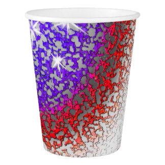 American Flag Abstract Paper Cup