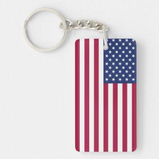 American Flag Acrylic Keychain (Double Sided)