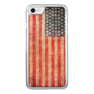 American Flag Aged Carved iPhone 8/7 Case