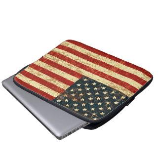 American Flag Aged Distressed Laptop Sleeve
