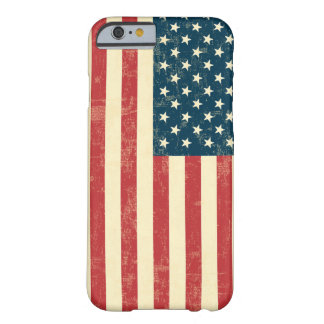 American Flag Aged Faded Barely There iPhone 6 Case