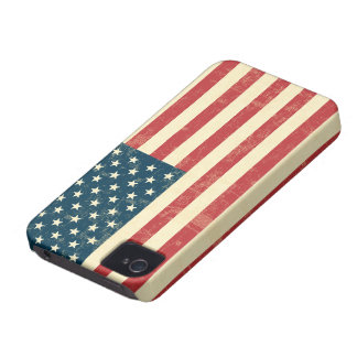 American Flag Aged Faded Case-Mate iPhone 4 Cases