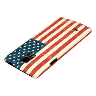 American Flag Aged Faded Galaxy Note 4 Case