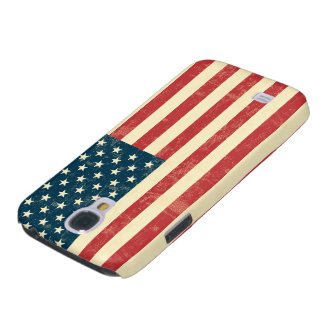 American Flag Aged Faded Galaxy S4 Case