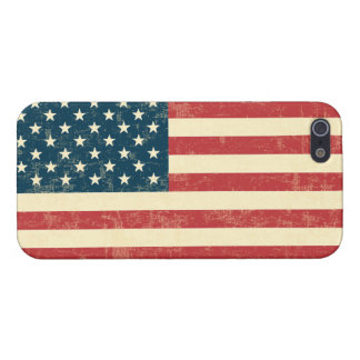 American Flag Aged Faded iPhone 5 Covers