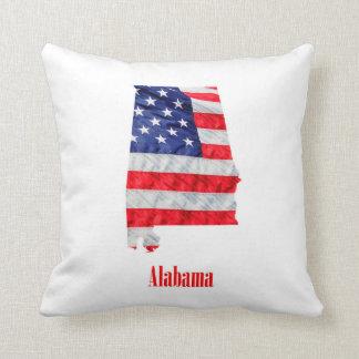 American Flag Alabama United States Cushion