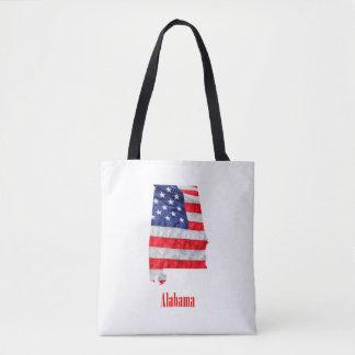American Flag Alabama United States Tote Bag