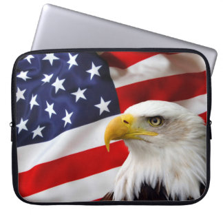 """American Flag and Eagle 15"""" Laptop Sleeve"""