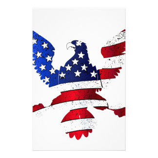 American Flag And Eagle Customized Stationery