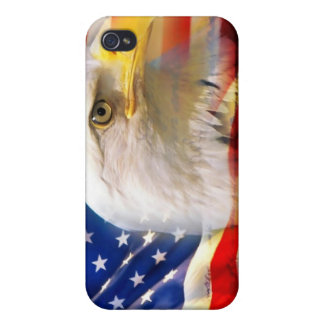 American flag and eagle Iphone case Cover For iPhone 4