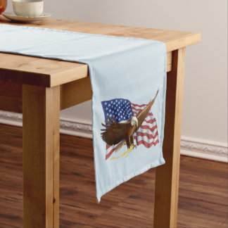 American Flag and Eagle Long Table Runner