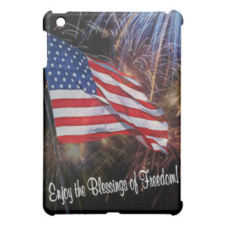 American Flag And Fireworks Design iPad Mini Cases