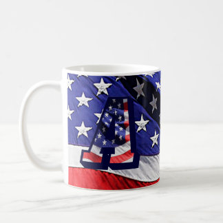 """American Flag and Letter """"A"""" on Both Sides Mug"""
