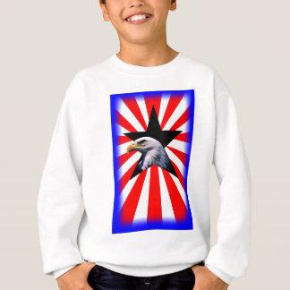 american flag and the Bald eagle Sweatshirt