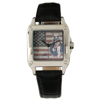 American Flag and Uncle Sam Watch