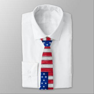 American Flag Art Fashion Tie