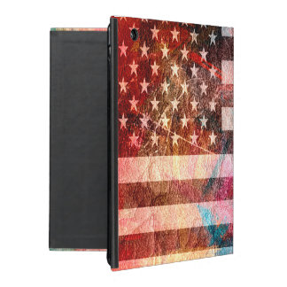 American Flag Art Grunge #5 iPad Cover