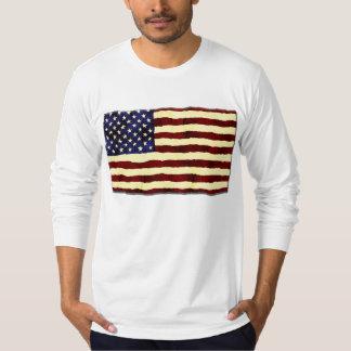 American Flag Artistic Grunge T-Shirt