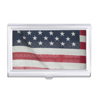 American Flag At The Sussex County Fair Business Card Holder