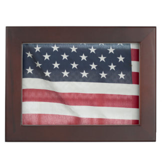 American Flag At The Sussex County Fair Keepsake Box