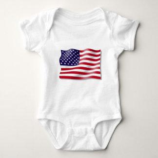 American Flag Baby Bodysuit