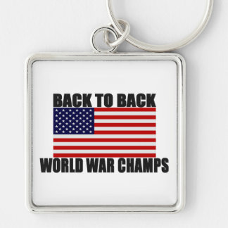 American Flag Back To Back World War Champs Key Chains