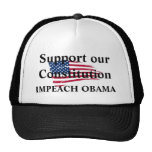 American_flag_background, Support our Constitut... Trucker Hats