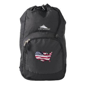American Flag. Backpack